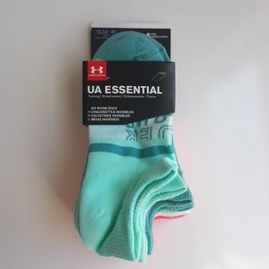 6 Pairs Under Armour Youth Kids Essential No Show